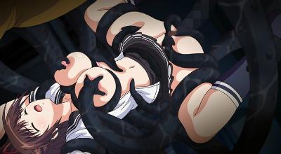 螺旋遡行のディストピア「絡まり合う触手・美羽~搾られ捻るふたなり巨乳◆~」の画像